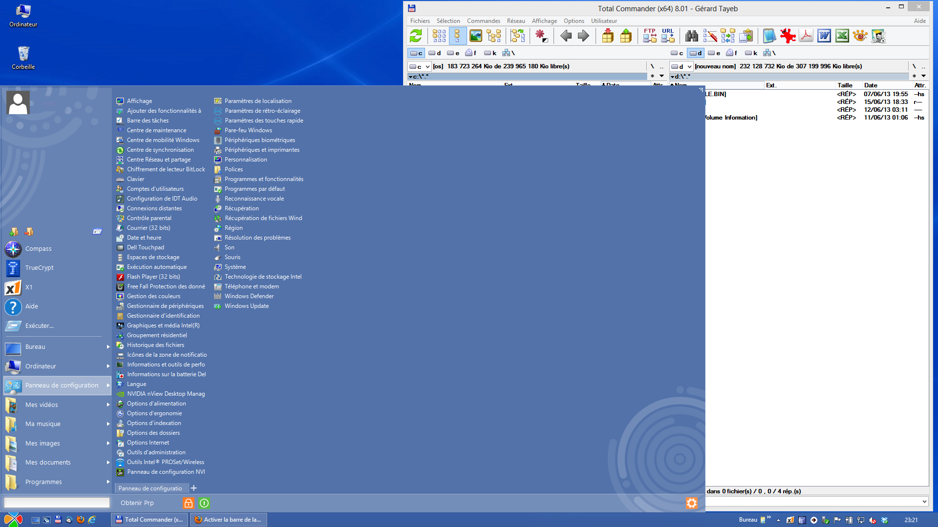 Performance du bureau pour windows aero d sactiver for Bureau windows 7